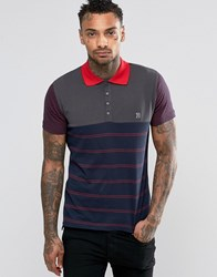 Diesel T Mother Jersey Stripe Polo Navy