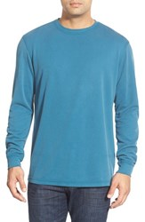 Men's Bugatchi Long Sleeve Crewneck Sweatshirt Teal