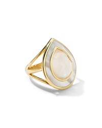 Ippolita 18K Ondine Teardrop Mother Of Pearl Doublet And Slice Ring Gold