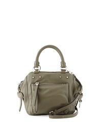 Cube 21 Lamb Leather Shoulder Bag Military Green Marc By Marc Jacobs