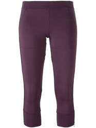 Adidas By Stella Mccartney Fitness Capris Pink And Purple