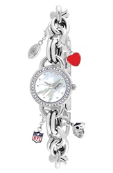 Game Time 'Nfl New England Patriots' Charm Bracelet Watch 23Mm