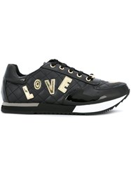 Love Moschino Logo Patch Sneakers Black