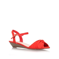 Carvela Sparrow Low Heel Sandals Red
