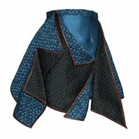 Gyunel Teal Origami Skirt Blue