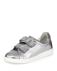 Mirror Grip Strap Leather Sneaker Argent Kenzo Ag Argent