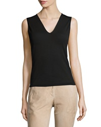 Alexis Sleeveless Ginnie Ponte Top Black