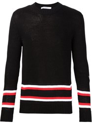 Givenchy Striped Sweater Black