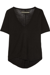 Enza Costa Jersey Top Black