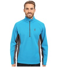 Spyder Outbound Half Zip Mid Weight Core Sweater Electric Blue Polar Polar Men's Sweater