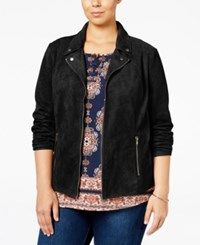 Styleandco. Style Co. Plus Size Faux Suede Jacket Only At Macy's Deep Black