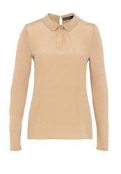 Hallhuber Round Collar Mix And Match Top Beige