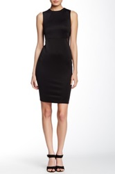 Blvd Mesh Insert Sleeveless Dress Black