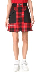 Tim Coppens Ma 1 Skirt Red Check
