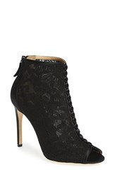 Women's Badgley Mischka 'Nerina' Lace Bootie Black Lace