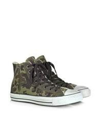 Converse Limited Edition Canvas And Shearling High Top Sneaker Green