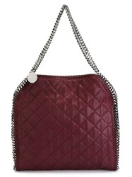 Stella Mccartney 'Falabella' Quilted Tote Red
