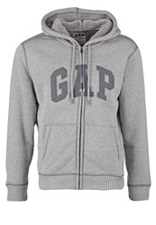 Gap Sherpa Tracksuit Top Grey Heather Mottled Grey