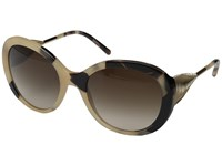 Burberry Be4191 Trench Horn Gradient Brown Fashion Sunglasses Gray