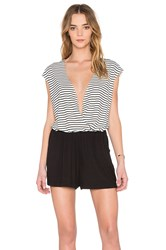 Bcbgeneration Romper Black And White