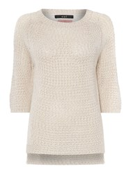 Oui Knit With Lace Back Pink