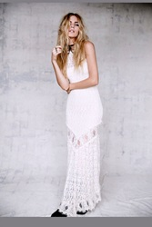 Nightcap Womens Florence Lace Halter Gown