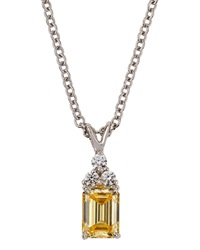 Fantasia Pendant Necklace With Emerald Cut Cubic Zirconia