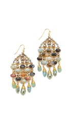 Nakamol Tyler Earrings Amazonite Gold