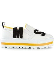 Msgm Patch Loafer Shoes White