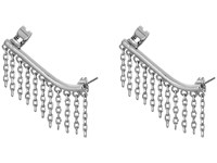 French Connection Chain Fringe Ear Cuff Earring Silver Earring
