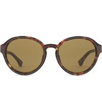 Dries Van Noten Dvn81 Tortoise Shell Round Sunglasses Red And Bronze