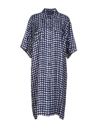 Antonio Fusco Knee Length Dresses Blue