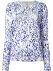 Giambattista Valli Floral Print Cardigan Pink And Purple