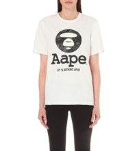 Aape By A Bathing Ape Logo Print Cotton T Shirt White