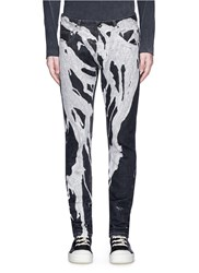 Rick Owens 'Detroit' Bleached Denim Pants Multi Colour