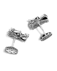 John Hardy Men's Naga Silver Dragon Head Cufflinks
