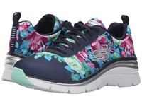 Skechers Fashion Fit Navy Mint Women's Shoes