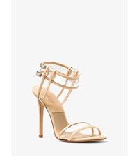 Brittany Runway Leather And Vinyl Sandal