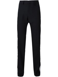 Todd Lynn Lace Side Panel Trousers Black