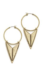 Ettika Mathematrix Earrings Brass