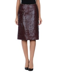 Just In Case Skirts Knee Length Skirts Women Maroon
