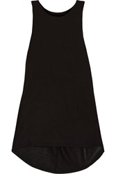 Halston Twisted Modal Racer Back Tank Black