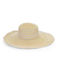 Gottex Striped Morgana Straw Hat Natural White