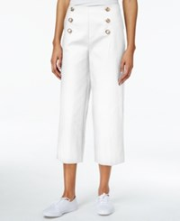 Maison Jules Sailor Culottes Only At Macy's Bright White