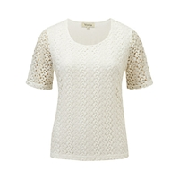 Viyella Crochet Top Ivory