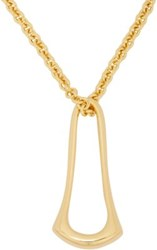 Maiyet Women's Gold Elongated Sculpt Pendant Necklace No Color