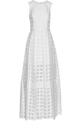 Alexis Bella Pleated Lace Gown White