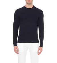 Slowear Crewneck Knitted Jumper Navy