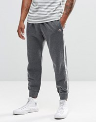 Abercrombie And Fitch Cuffed Joggers Retro Side Stripe Light Grey Light Grey