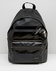 Diesel Iron Backpack With Leather Detail Black